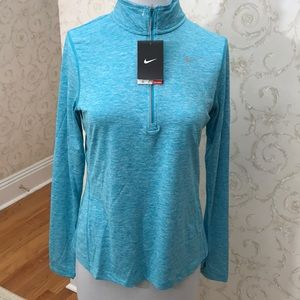 NWT Teal Nike Dri- Fit zip up. Size M
